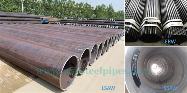 differences between saw pipes and erw pipe